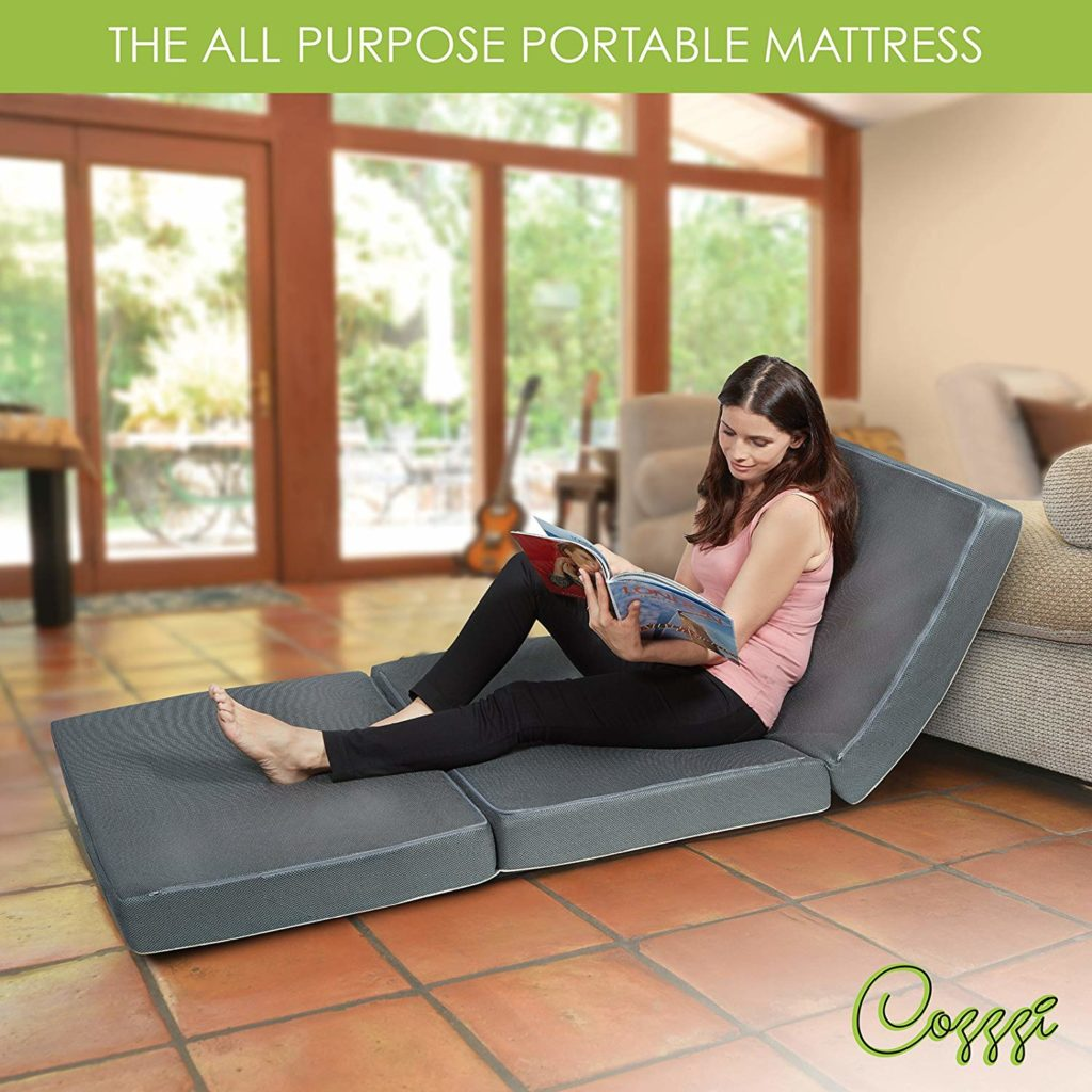 Cozzzi Trifold Foldable Mattress for Single Bed