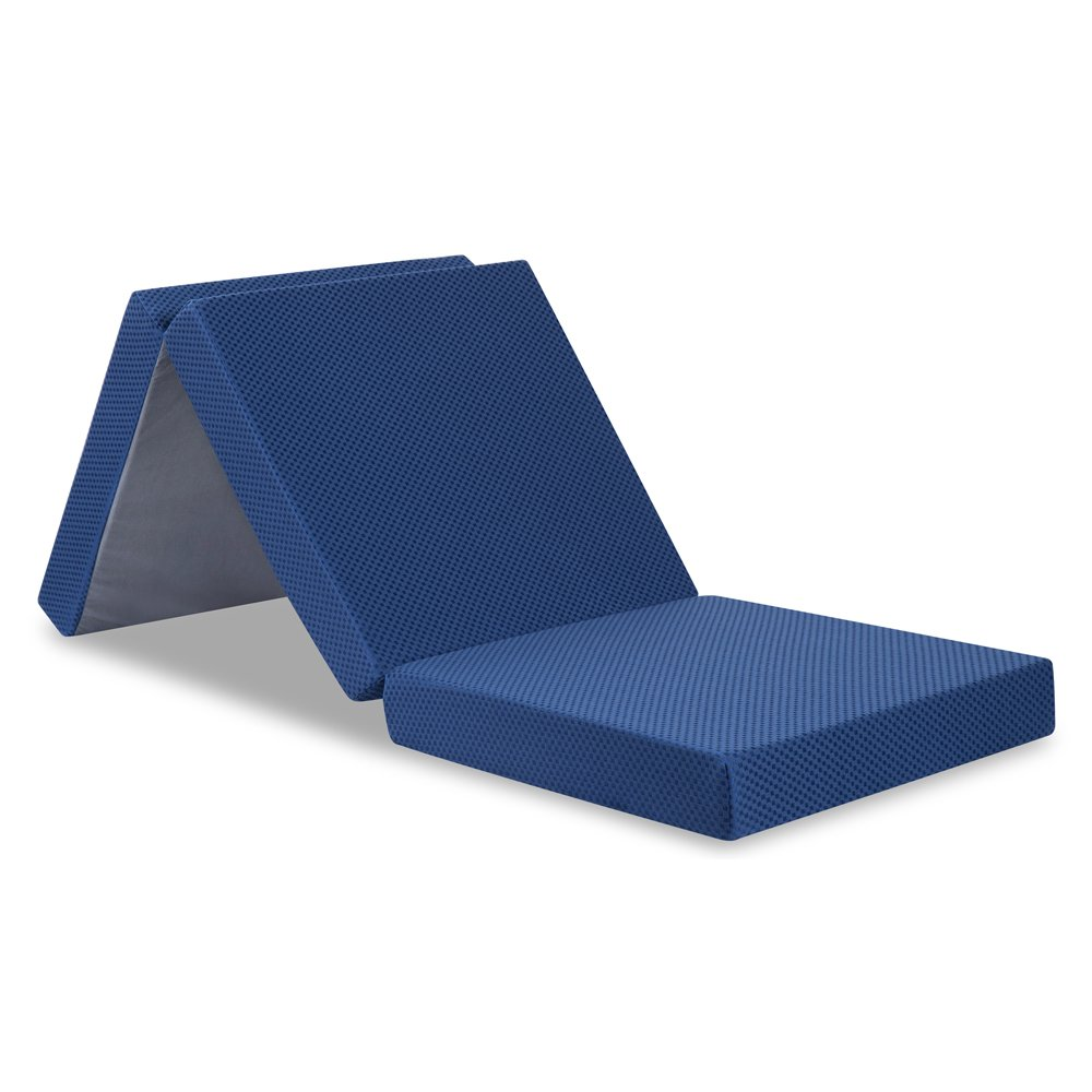 Olee Sleep Tri-Fold Portable Single Bed Mattress