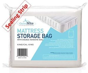 Extra Thick Mattress Storage Bags with Adhesive Seal for Moving and Storing
