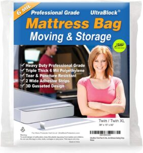 UltraBlock Mattress Bag for Moving and Storage