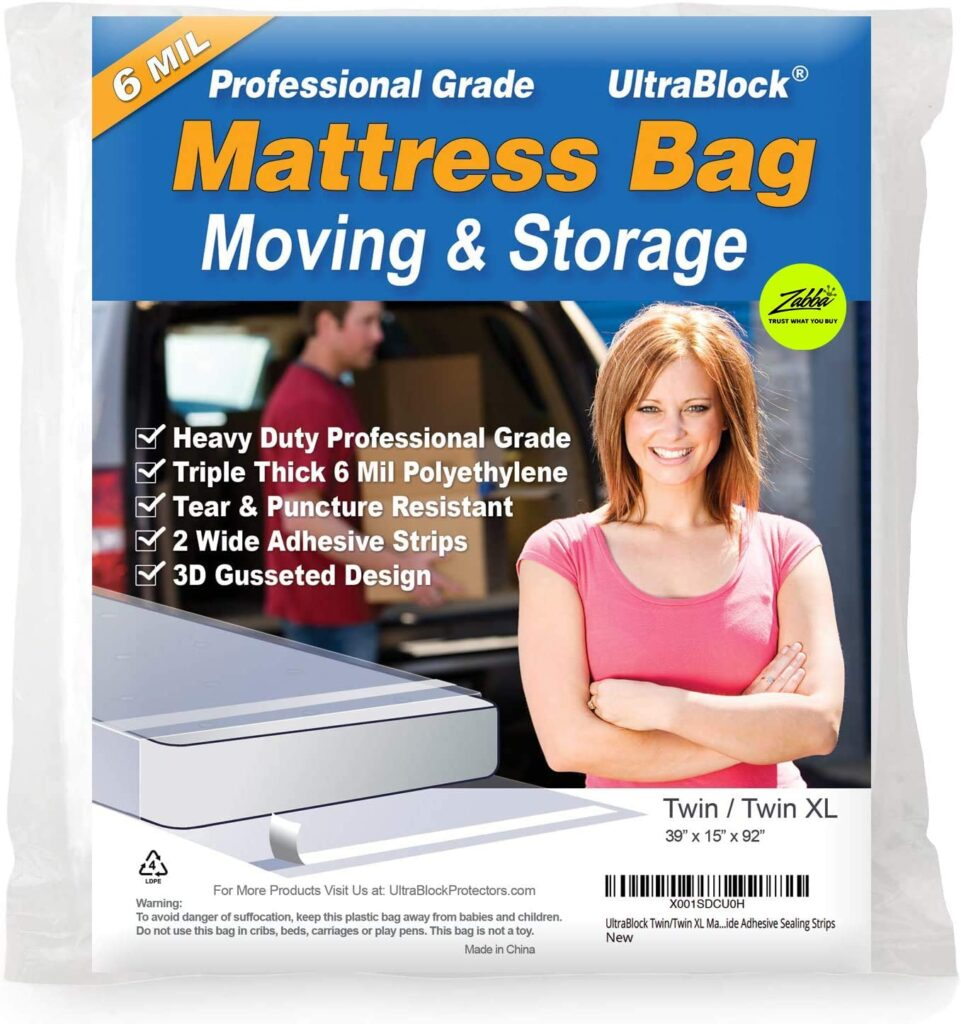 UltraBlock Mattress Bag for Moving, Storage