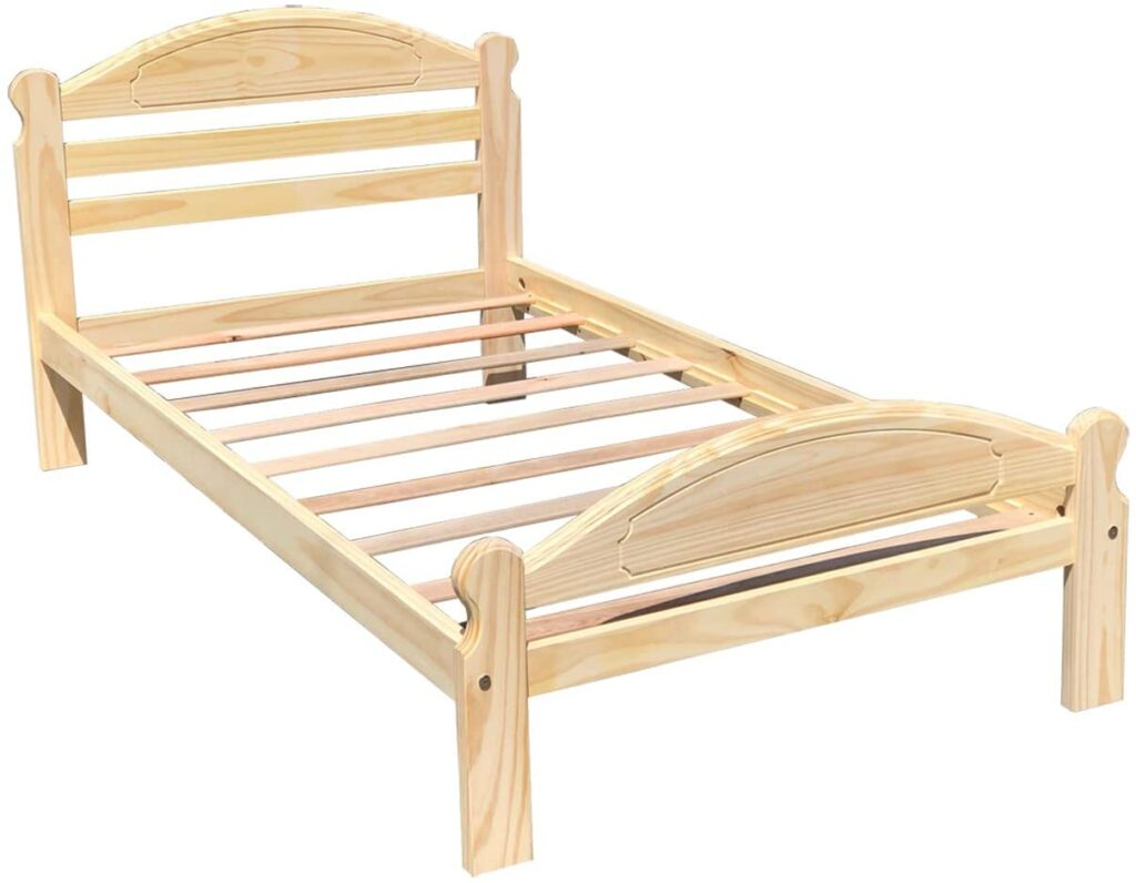 Arizona Bed Solid Pine Wooden Bed Unfinished with Hardwood