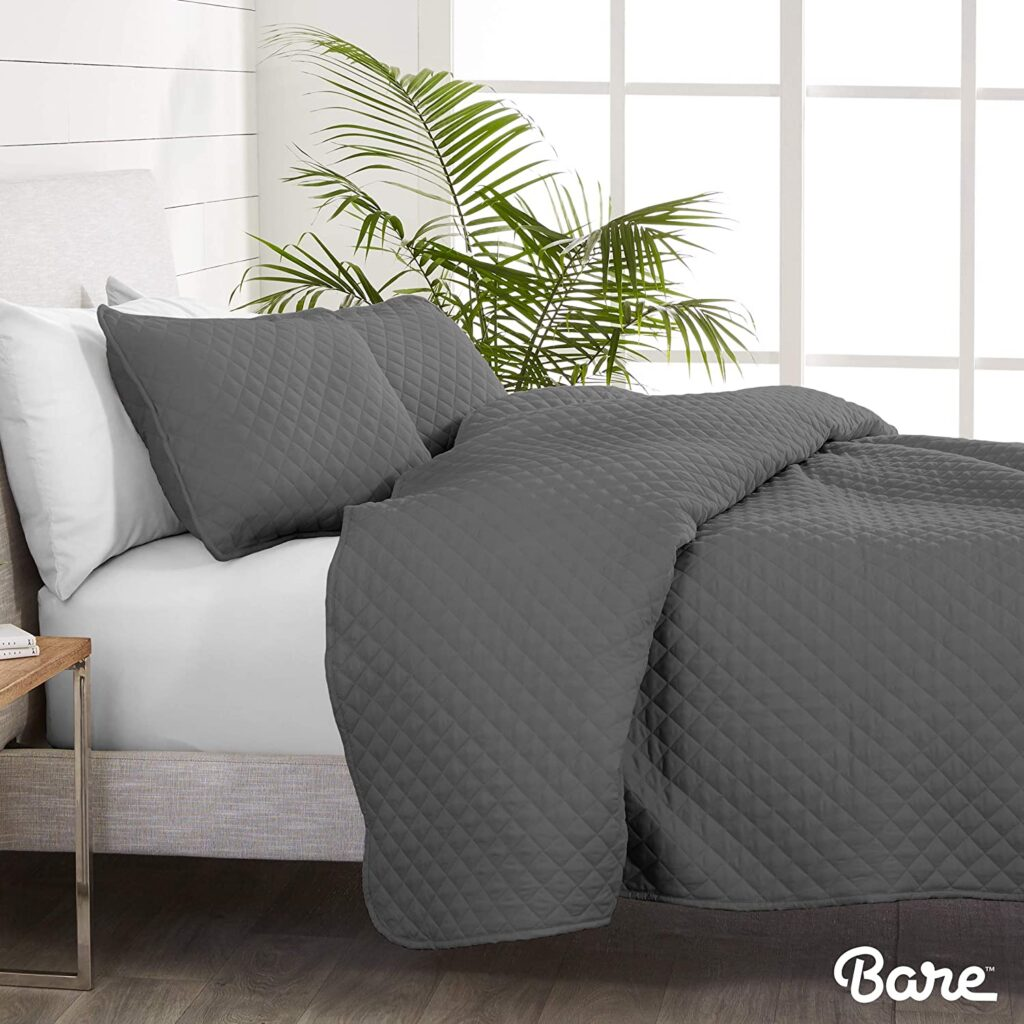 Bare Home Premium Coverlet Set – Grey