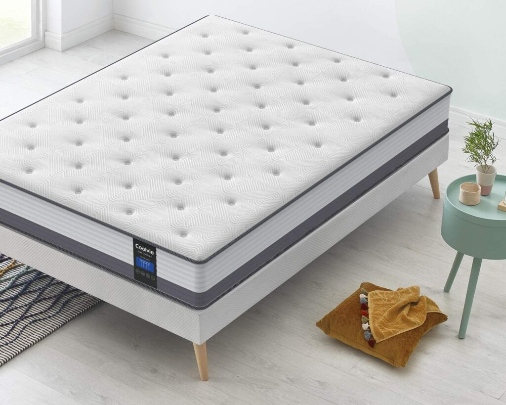 Coolvie Twin xl Gel Memory Foam Hybrid Mattress