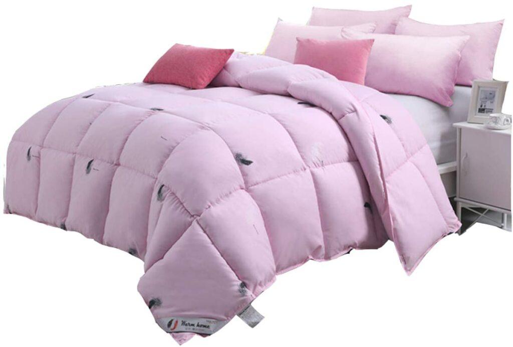 FDesign Luxurious Goose Down Comforter Hypoallergenic All Season Quilted Comforter Down Alternative Comforter