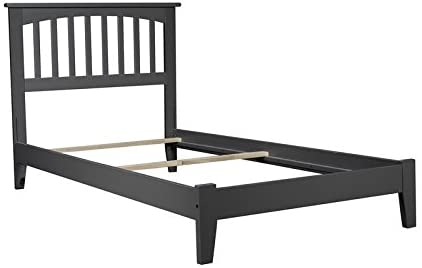 Leo & Lacey Twin XL Traditional Bed in Gray