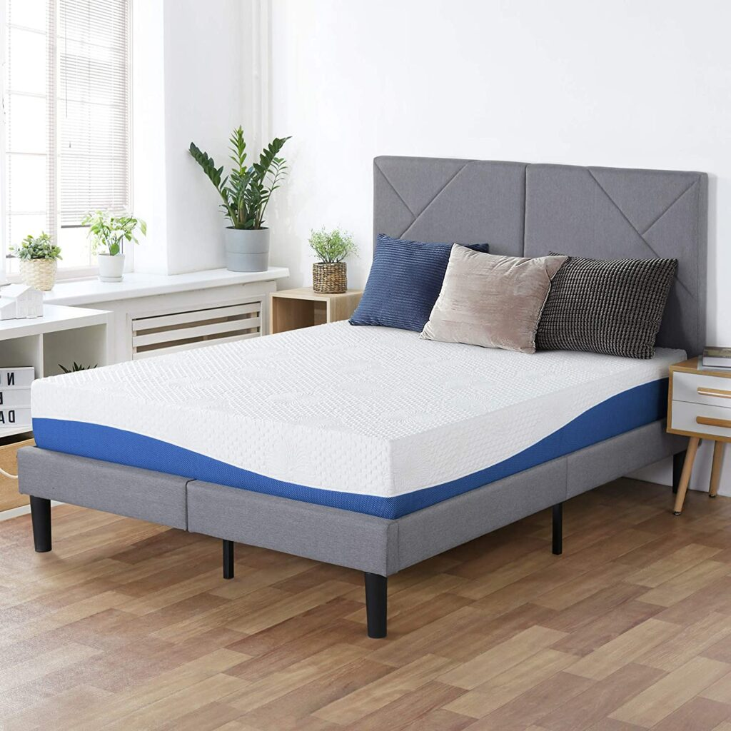 PrimaSleep Wave Gel Infused Memory Foam Mattress King Blue.html