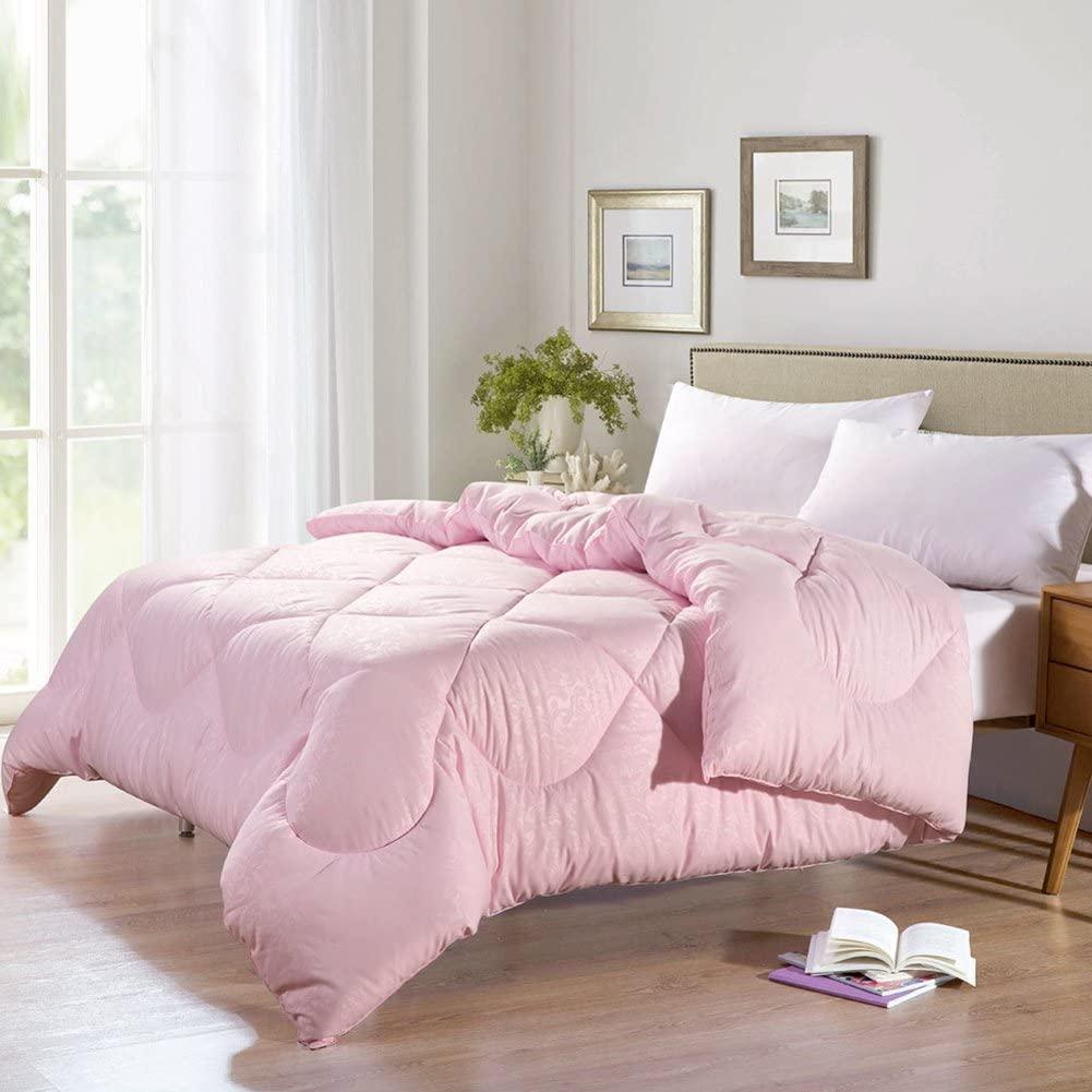 QQDE Twin xl Thick Cotton Quit Soft Comforter - Pink