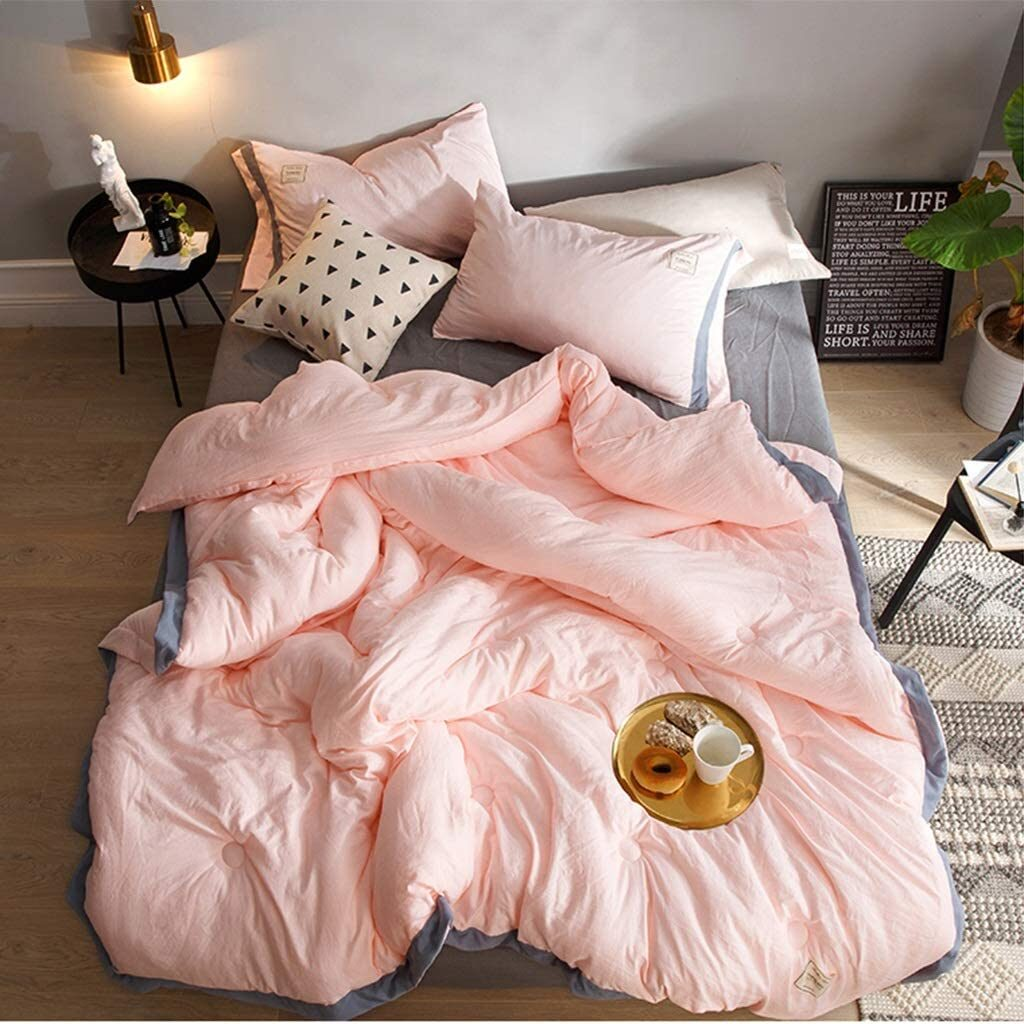 Quilted Twin xl Pink Comforter
