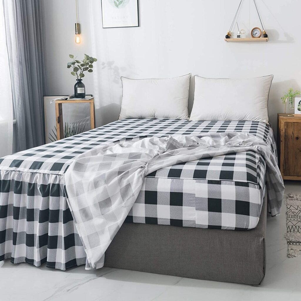 Tealp Gingham Buffalo Check Bedspread - Twin xl