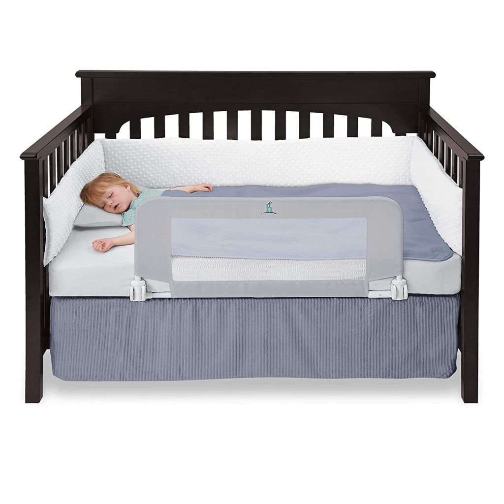hiccapop Bed Rail Guard with Reinforced Anchor Safety