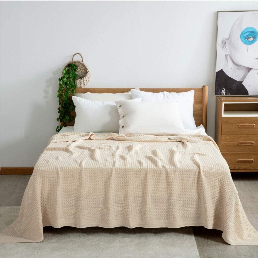 Bedsure Cotton Thermal Blanket for Layering
