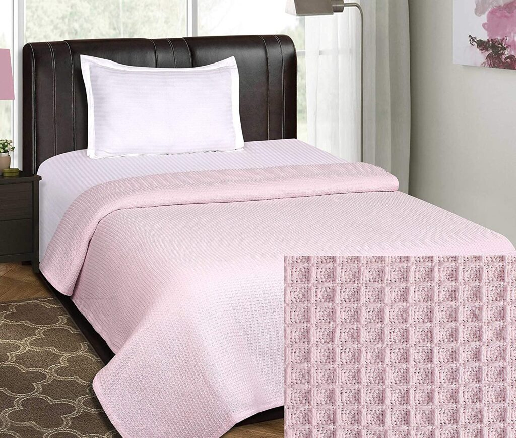 Life by Cotton Thermal Blanket with 100% Cotton