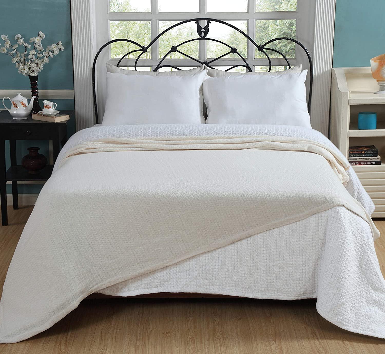 Shelter Ringspun Soft Cotton Thermal Blanket
